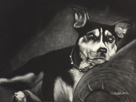 WEDDING ANNIVERSARY GIFT PET PORTRAITS: DOGS